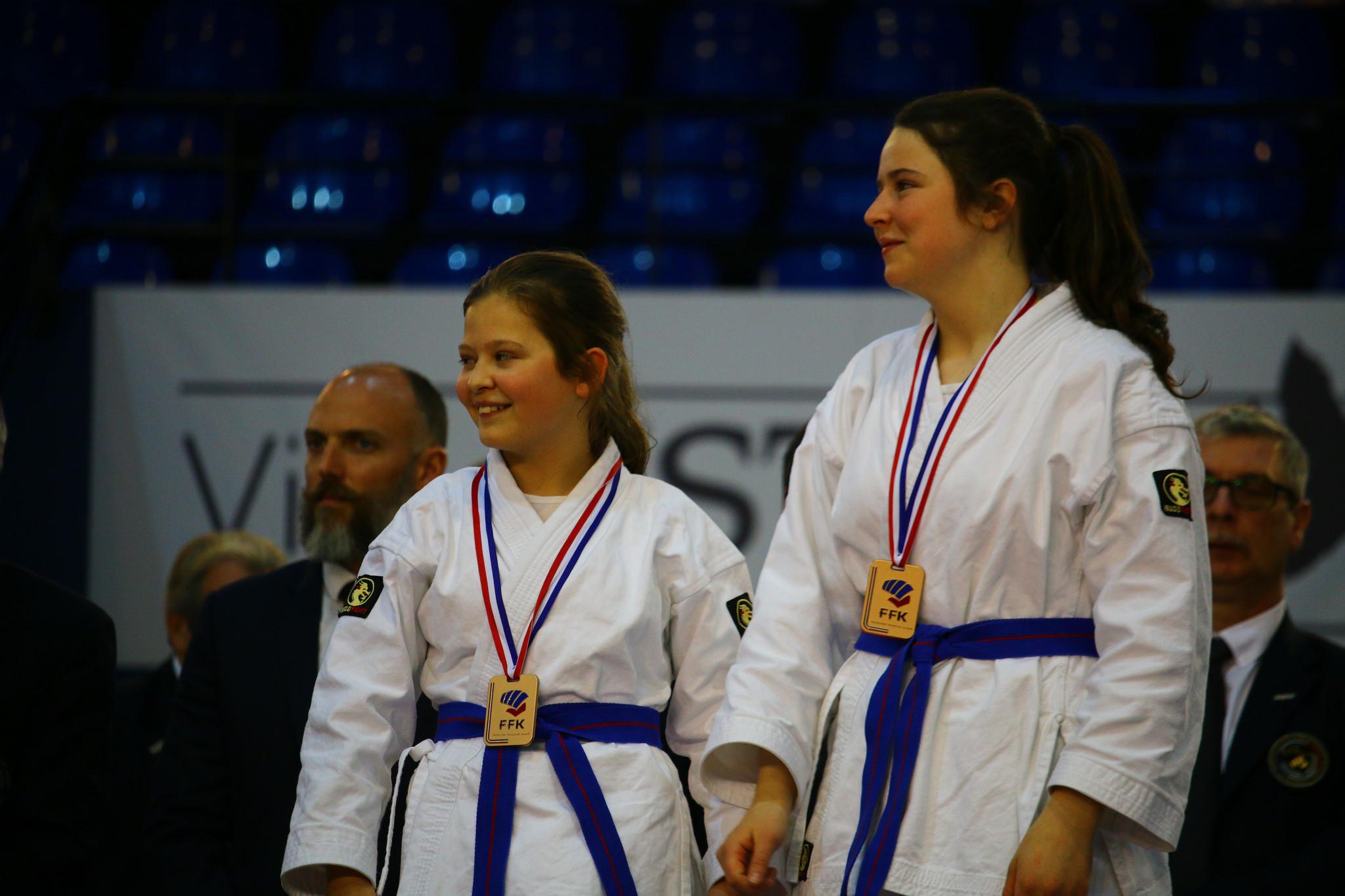 Manon et Lucie, médaillées de bronze en équipe - Résultats de la coupe de France 2018
