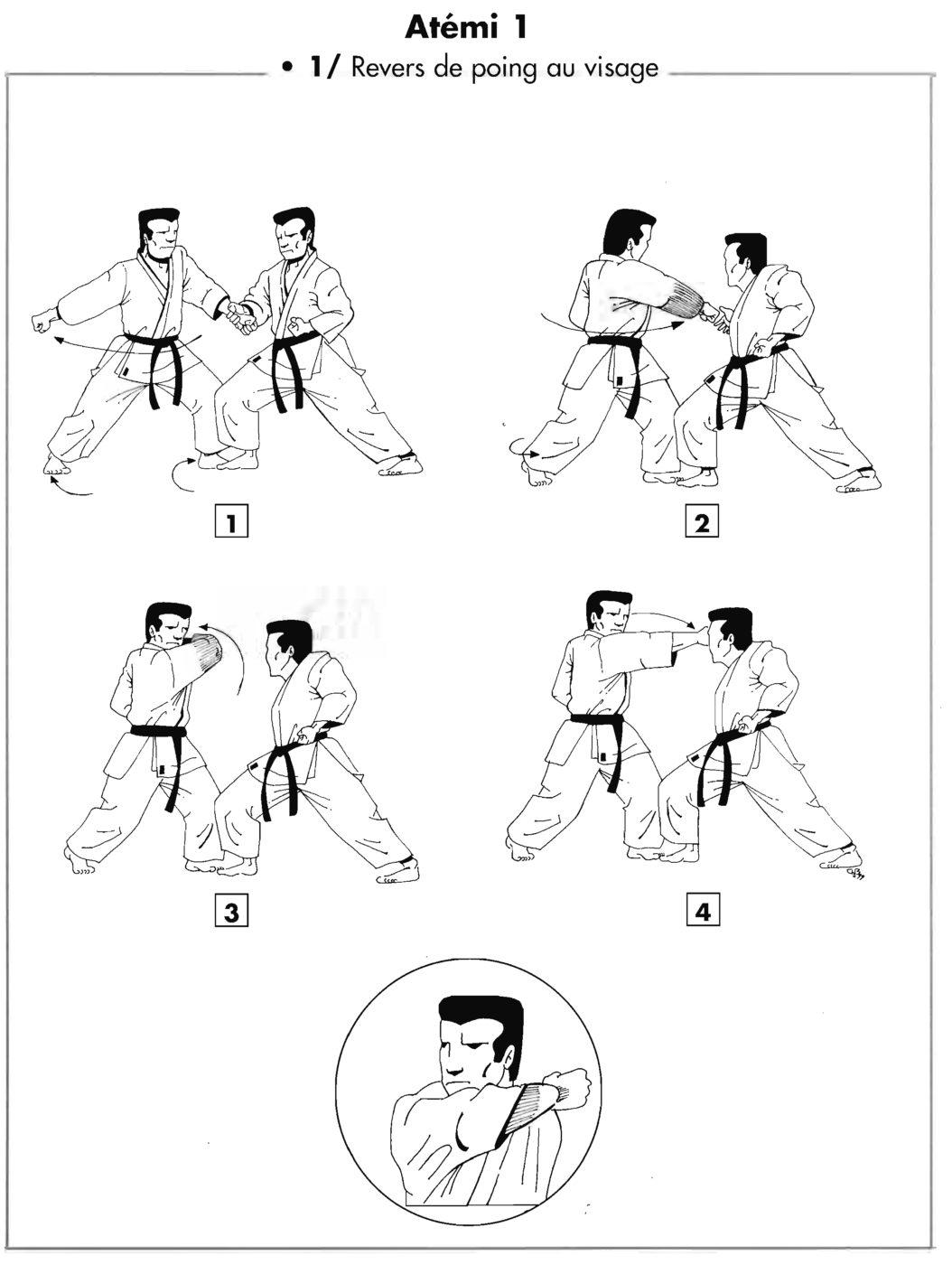 Atemi : jodan uraken uchi – revers du poing au visage