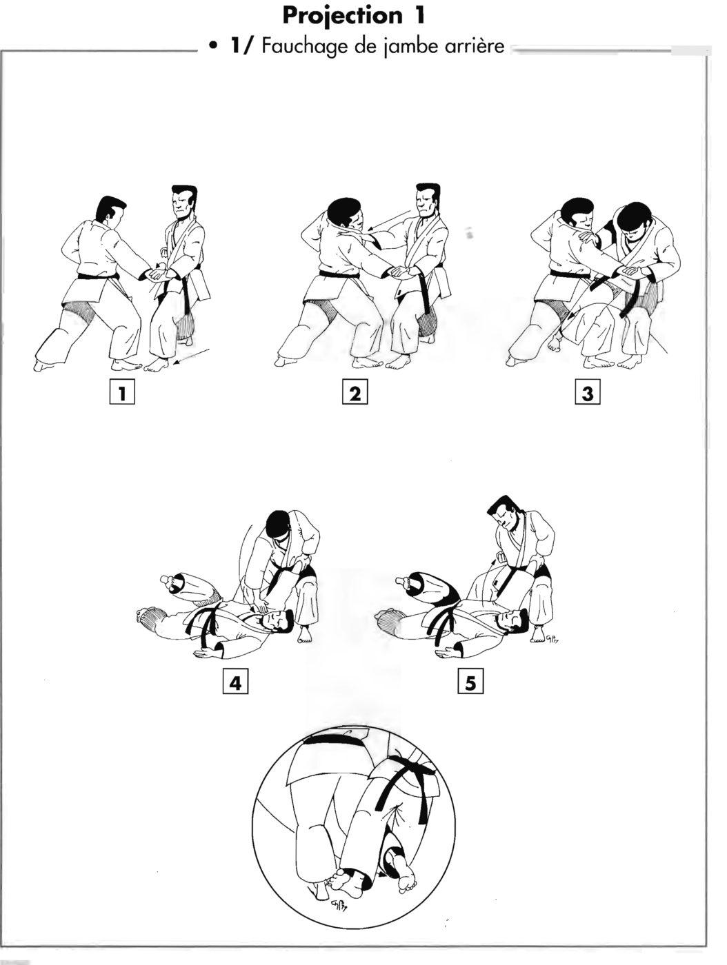 Projection : o soto gari – fauchage de la jambe arrière