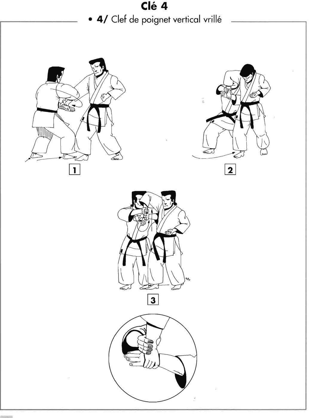Clé : yuki shigae – clé de poignet vertical vrillé
