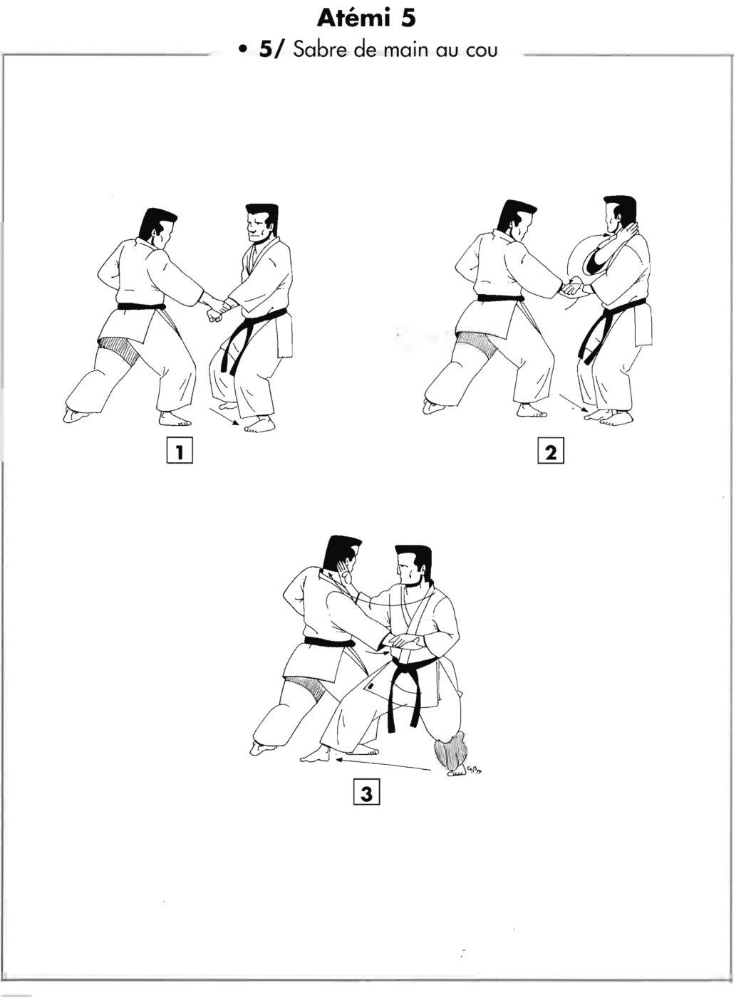 Atemi : jodan shuto uchi – sabre de main au cou