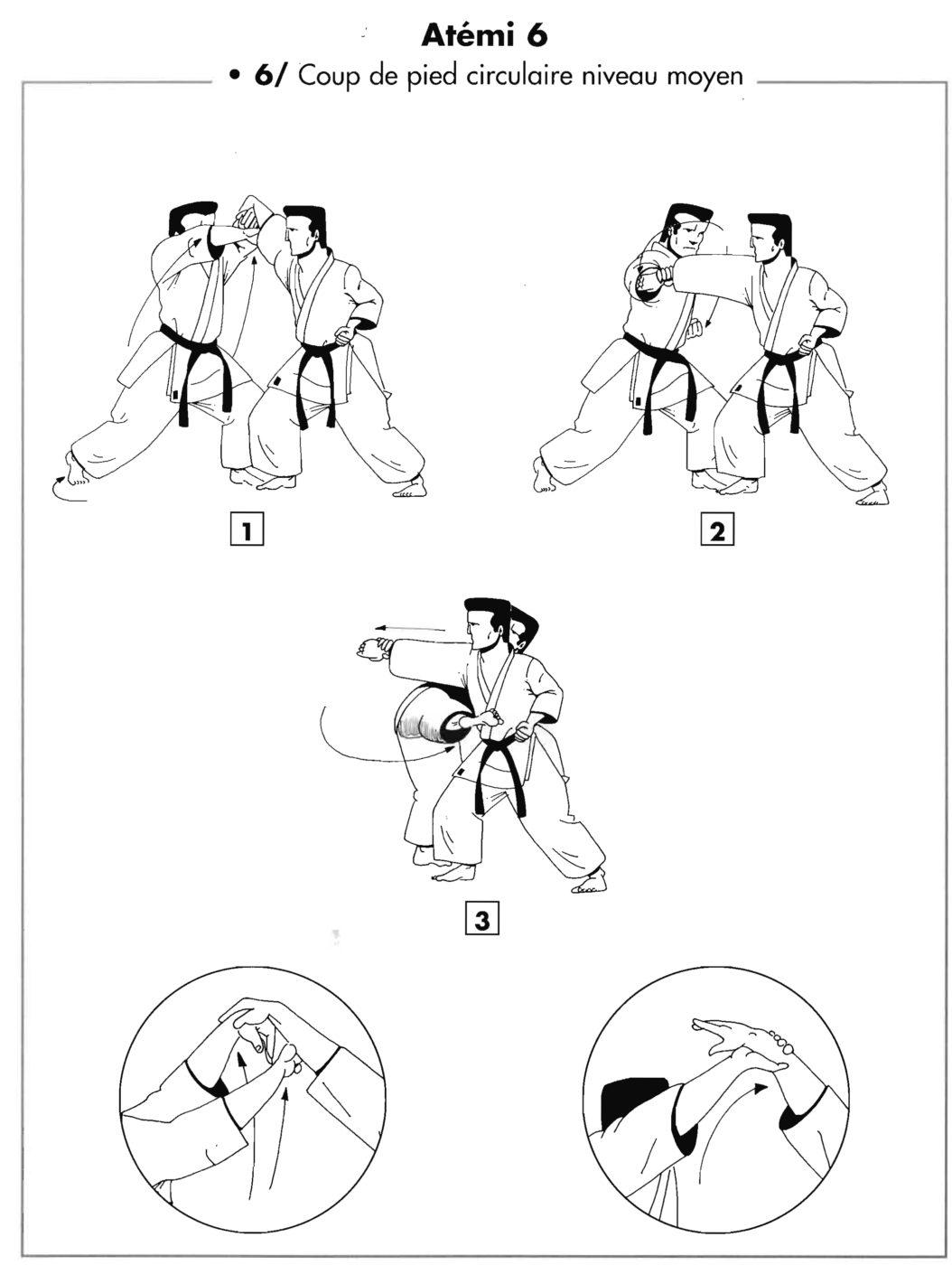 Atemi : chudan mawashi geri – coup de pied circulaire niveau moyen