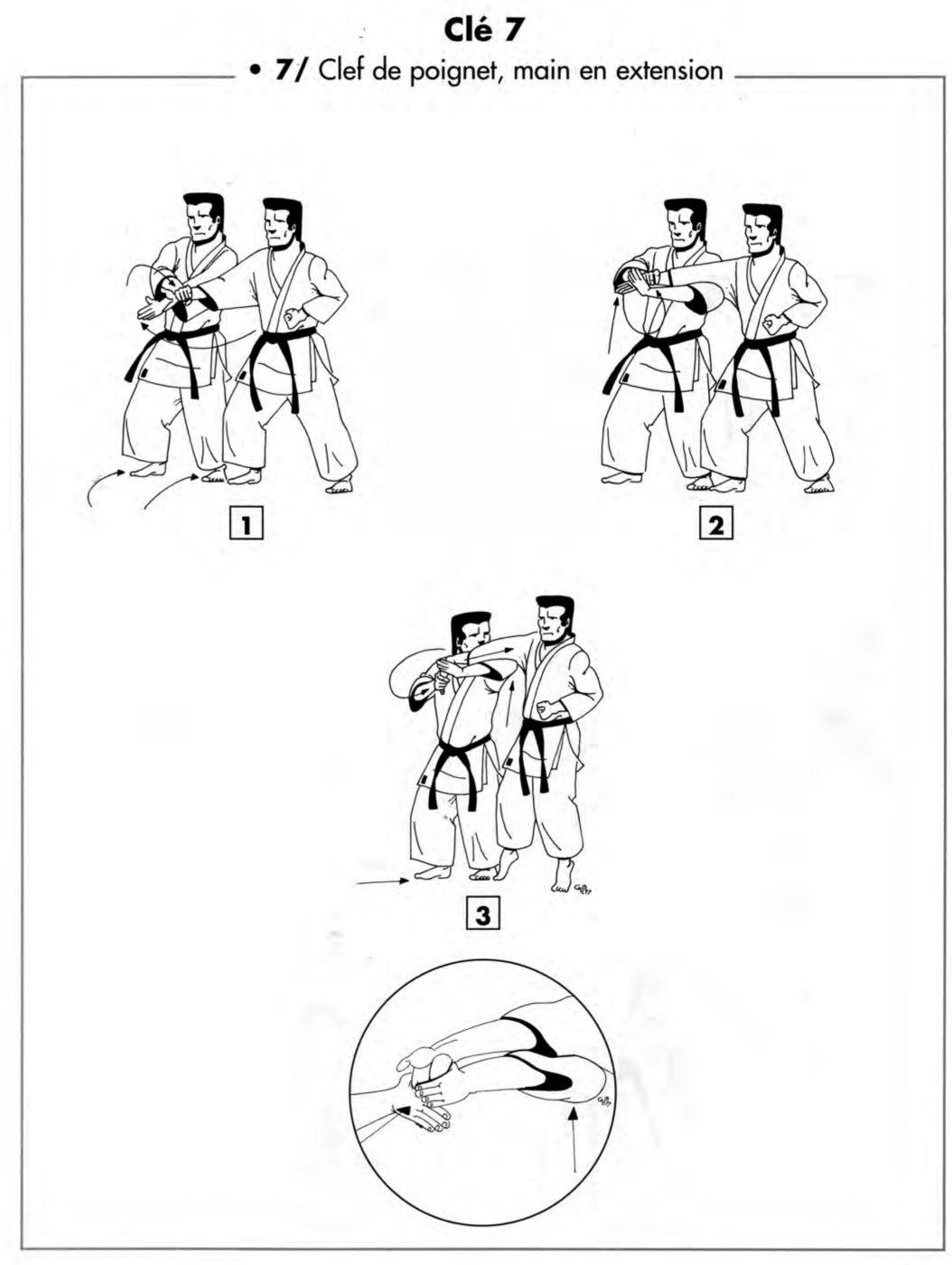 Clé : tembin – clé de poignet main en extension