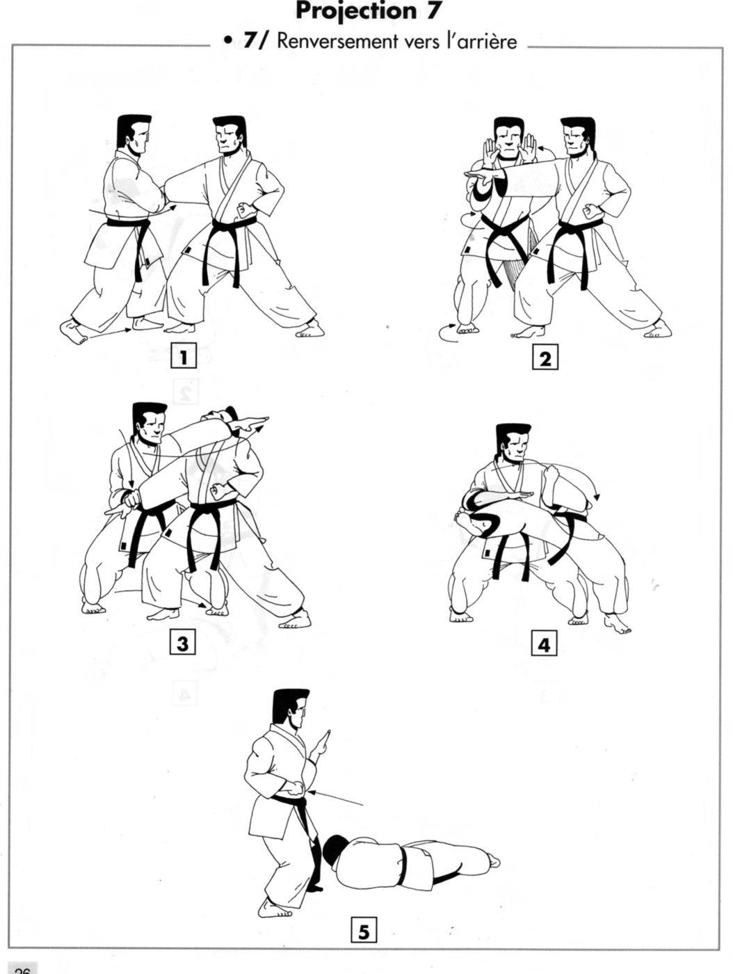 Projection : ushiro goshi – renversement vers l'arrière