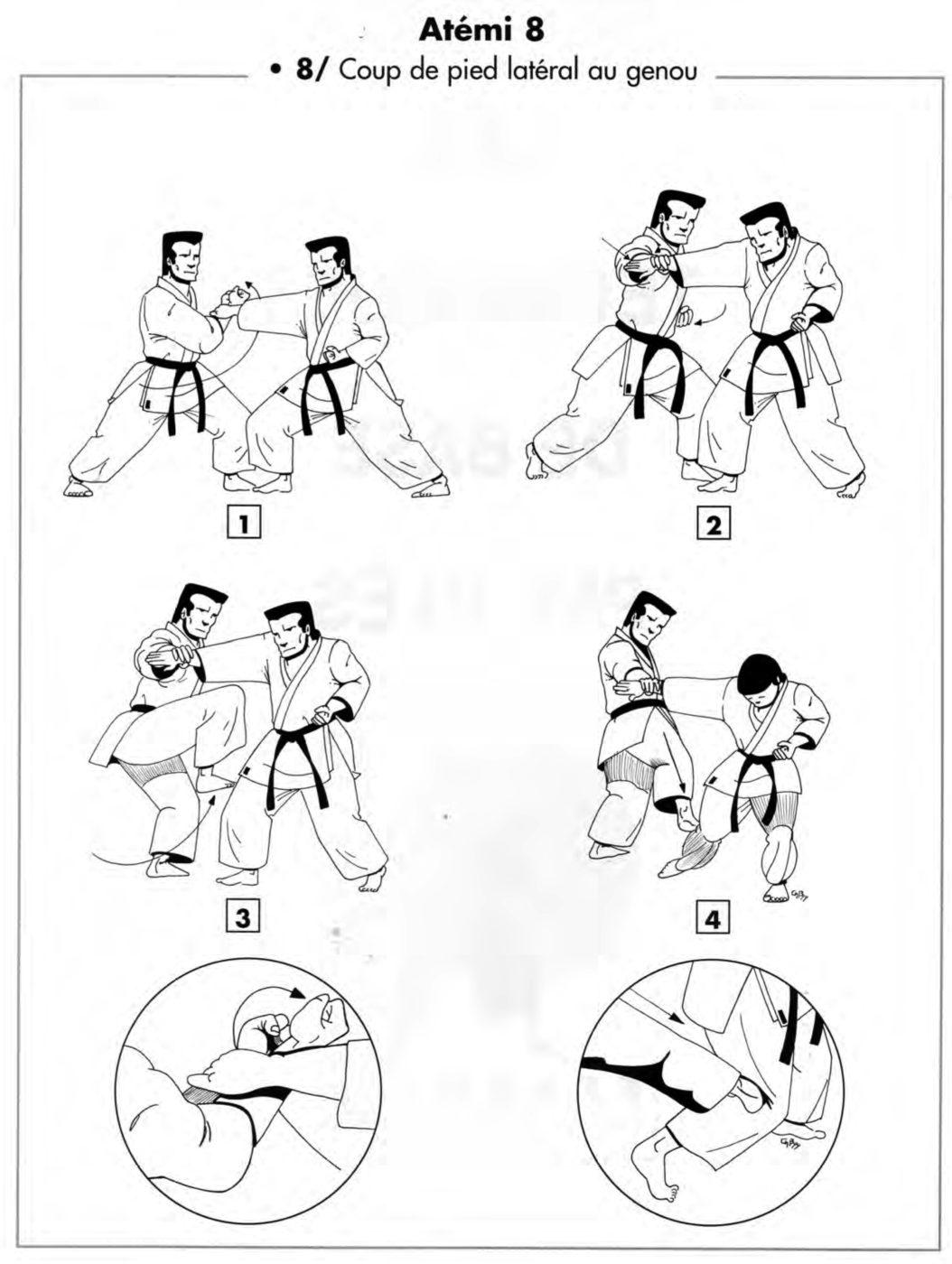 Atemi : yoko fumikomi – coup de pied latéral au genou